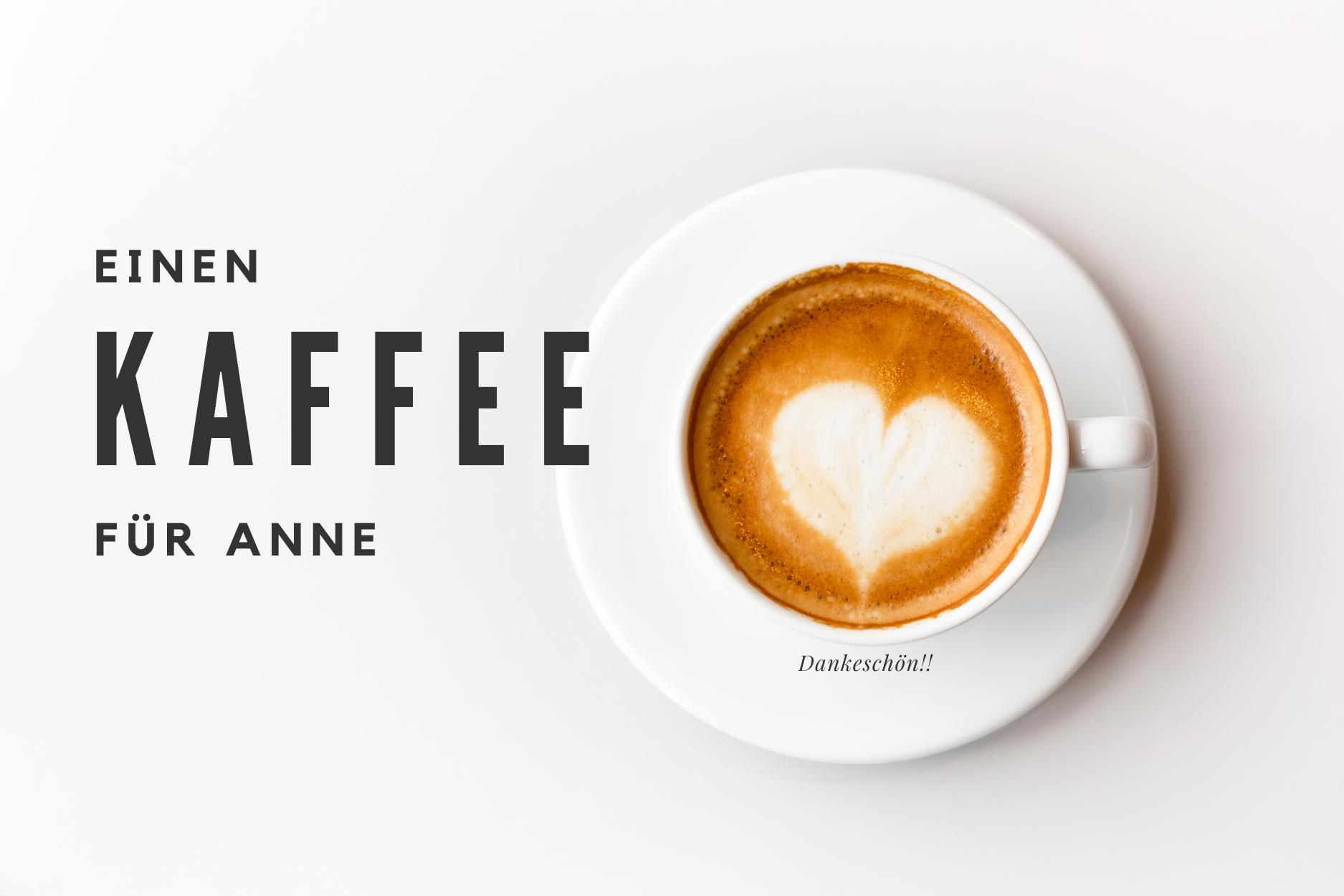 spendiere mir einen Kaffee